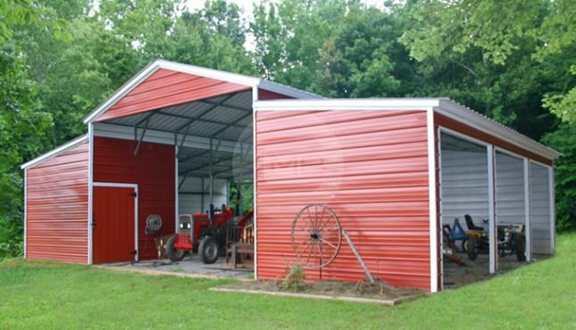 42x31x12 9 Vertical Carolina Barn Steel Barn For Sale