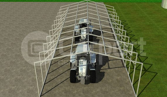 Vertical Style Agriculture Carport