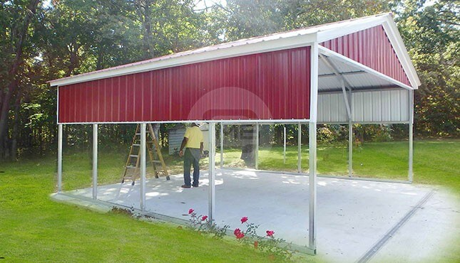 18x21 Vertical Carport