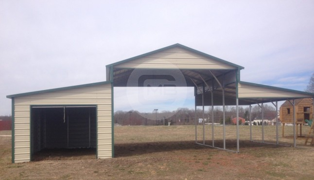 36×21 Raised Center Barn with Options