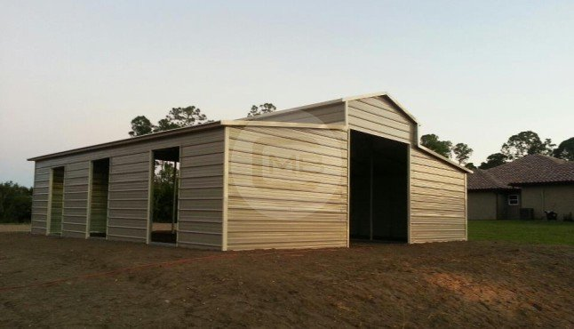 36×36 Raised Center Barn/Horse Barn