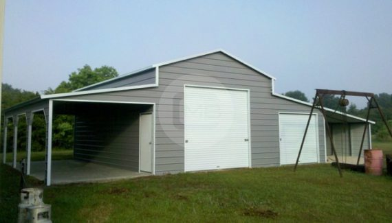 54x31 A Frame Raised Center Barn Boxed Eave Barn Building