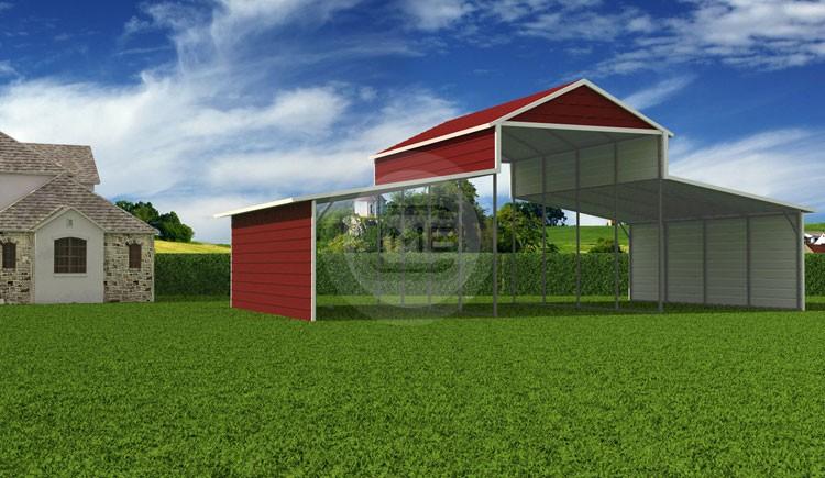 36x21x12 7 A Frame Carolina Barn Boxed Eave Steel Barn