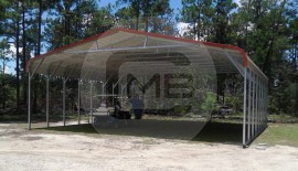 Triple Wide Metal Farm Shed