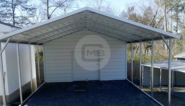 18x26 Enclosed Utility Carport