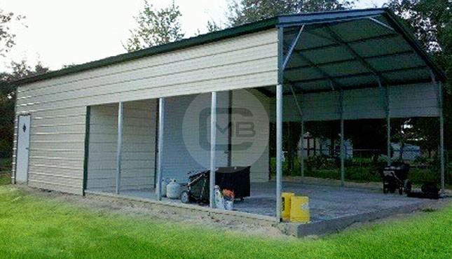 22'W x 31'L x 9'H-steel-utility-shed
