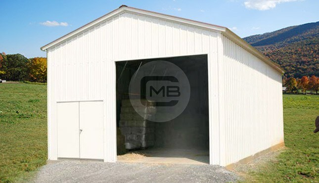 18x26x10 vertical roof side entry garage metalbarnscentral for 26 x 36 garage