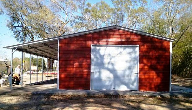 Enclosed Metal Garage - Copy