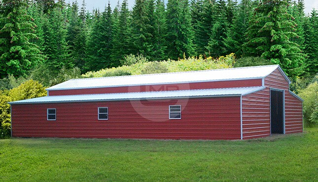 44×62 Red Raised Center Barn