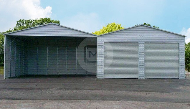 48x26 Carport with Garage