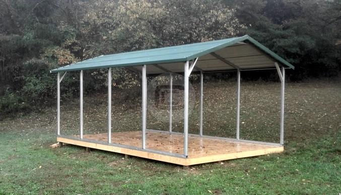 Metal Carport Frame : W l h carport metalbarnscentral