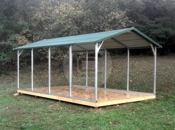 Metal barns senecabarn american barn style steel building for Steel frame barns for sale