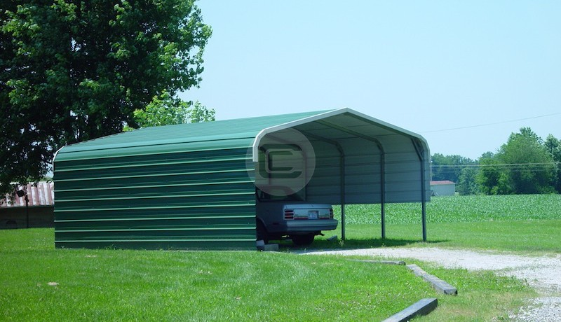 18'W x 26'L x 6'H Carport with Options