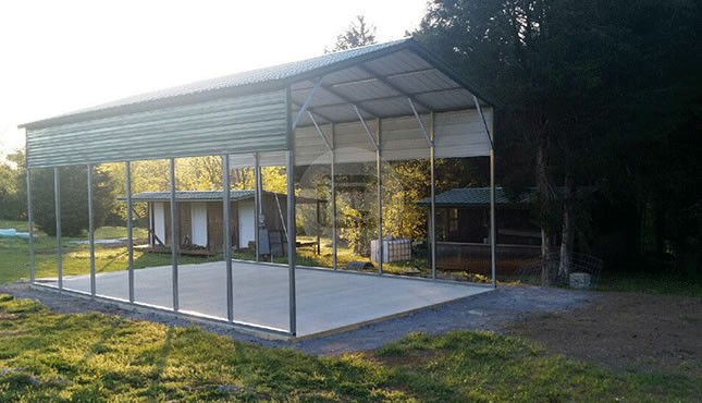 Custom Carports Product : Carport metal barn central