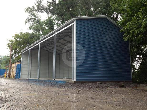 18x41 side entry garage metal barn central for Side entry garage