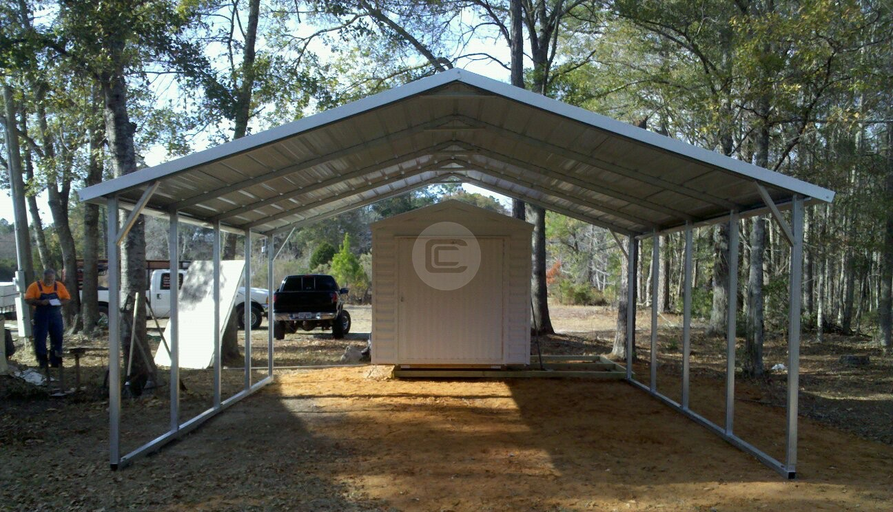 20x21 Metal Carport Metal Barn Central