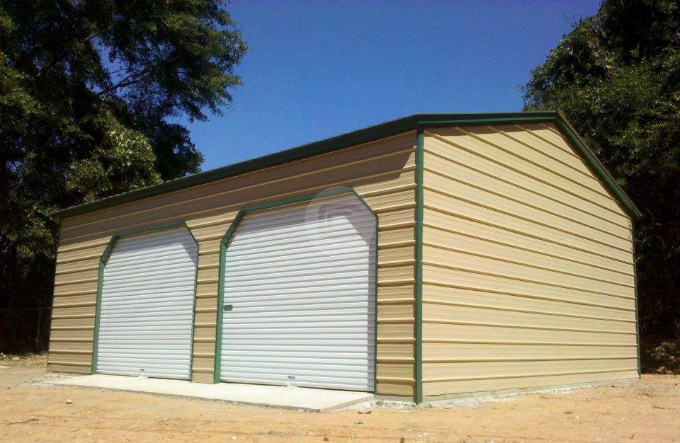 20x26 two car garage metal barn central for 20 x 26 garage