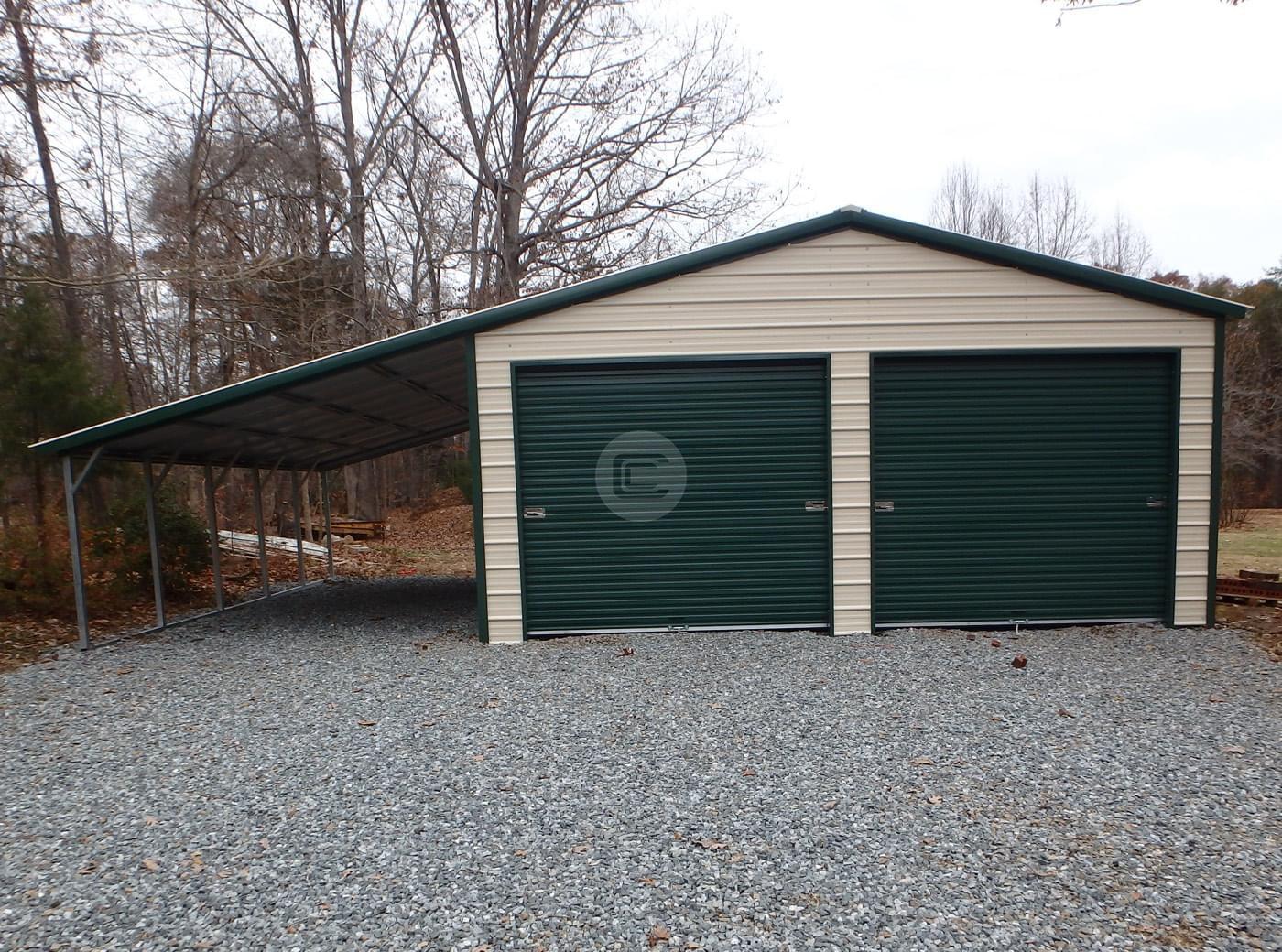 20x26x9 Vertical Roof Garage
