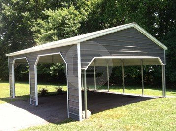 20'W x 26'L x 9'H Side Entry Carport