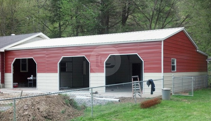 24x36x10 Side Entry Garage-2