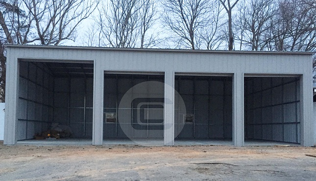 24x51x14 side entry garage metalbarnscentral for Side entry garage