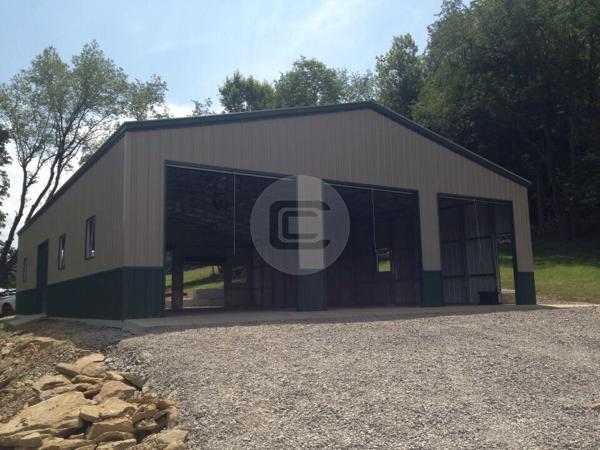 40x31x12 custom garage workshop metalbarnscentral for Custom garage workshop