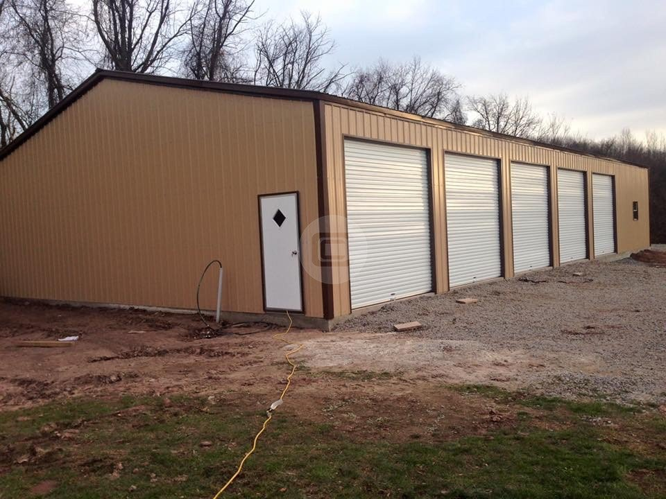 40x81 all vertical workshop metal barn central for Clear span garages