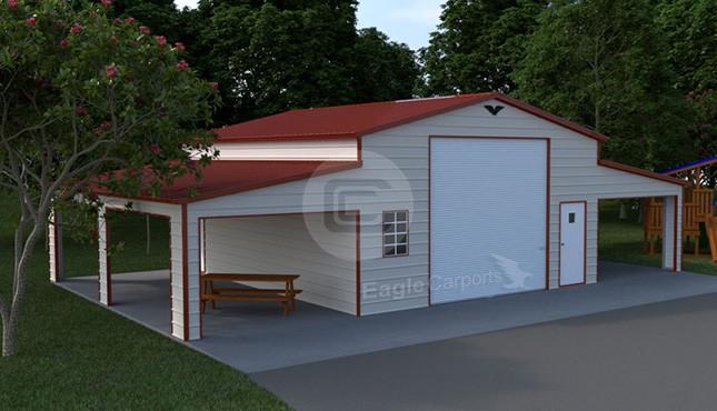 48×30 Raised Center Aisle Barn
