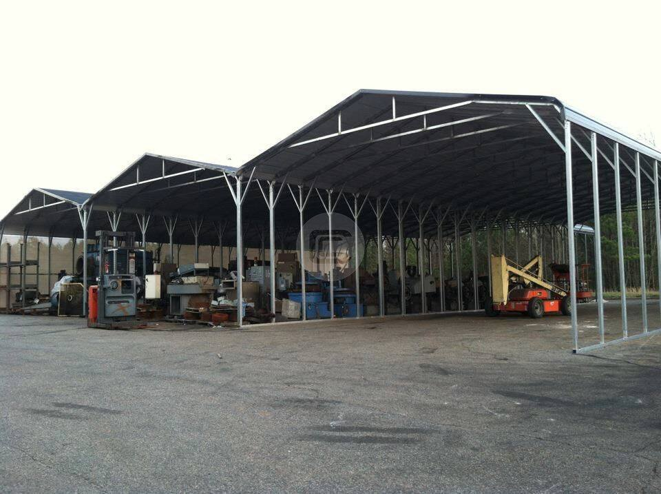 Custom Metal Carports : Custom built rv carport metal barn central