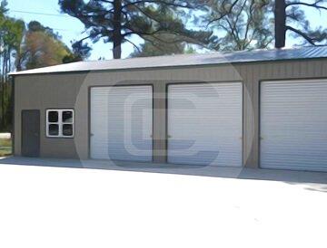 30x51x12 Clear Span Garage