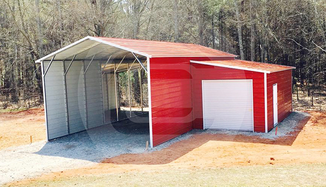 Custom Carolina Barn lean-to