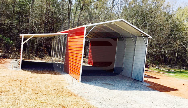 44×41 A-Frame Raised Center Barn