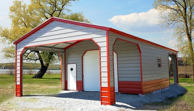 Custom Carports Product : Utility carport metalbarnscentral