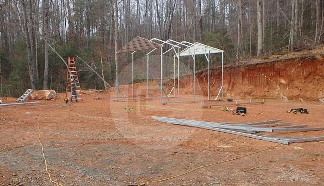 Metal Barn Installation