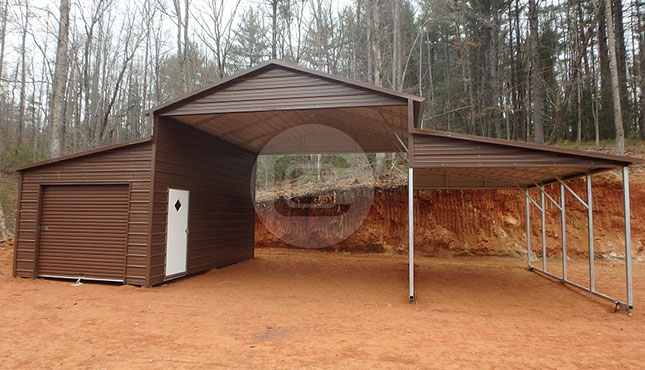 Metal Barn Shed - Carolina Style