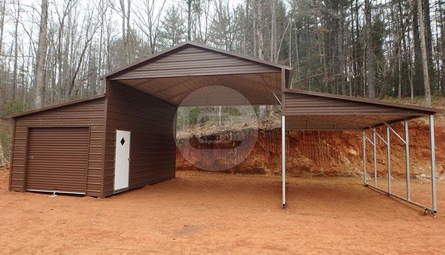 Metal Raised Center Barn