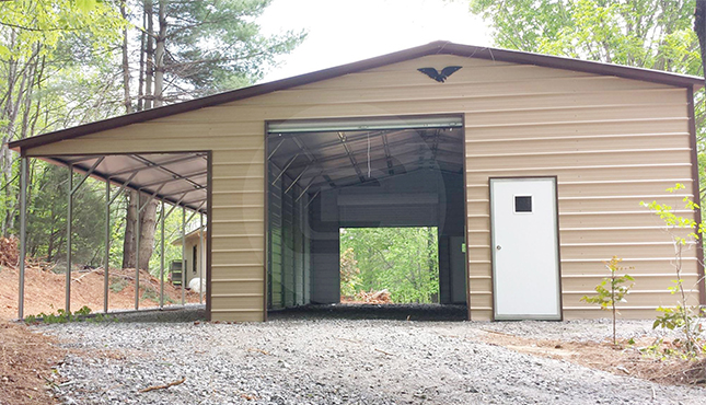 34x36 Garage With Lean To Metalbarnscentral