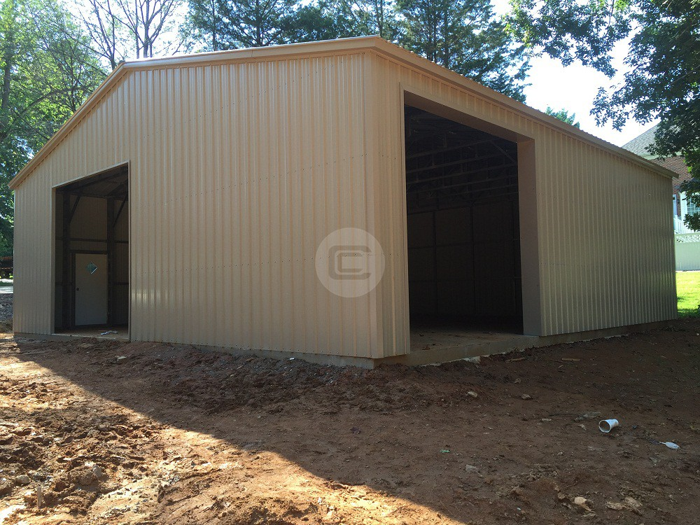 Metal Workshop with 2 garage doors