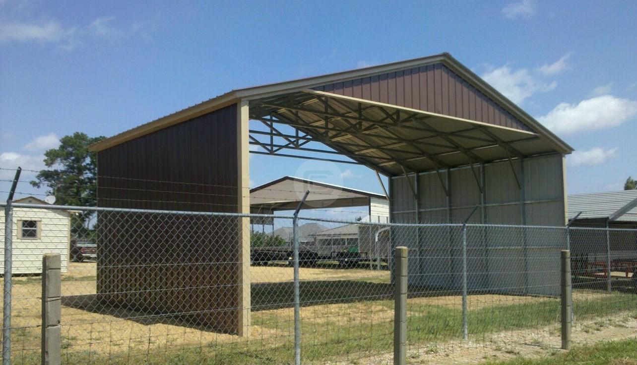 Closed In Carports : Carport metal barn central