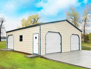 Prefabricated-Metal-Garage-for-Sale