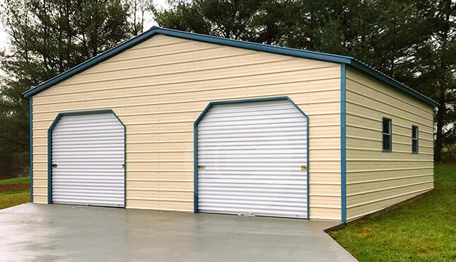 30x31x10  Prefab Metal Garage