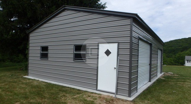 22x31x10 side entry garage metalbarnscentral for Side entry garage