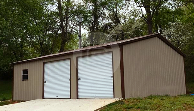 24x36x9 Prefab Side Entry Garage Metalbarnscentral