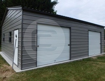 Side Entry Metal Garage