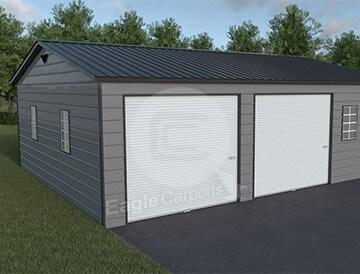 Snow wind certified metal garage 30x30 metalbarnscentral for 30x30 garage kits