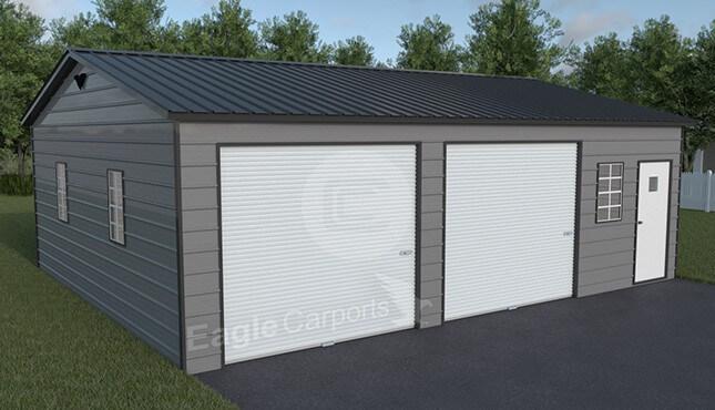 Snow wind certified metal garage 30x30 metalbarnscentral for 30x30 garage prices