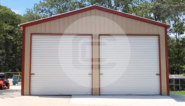 2 Car Metal Garage – 24×36