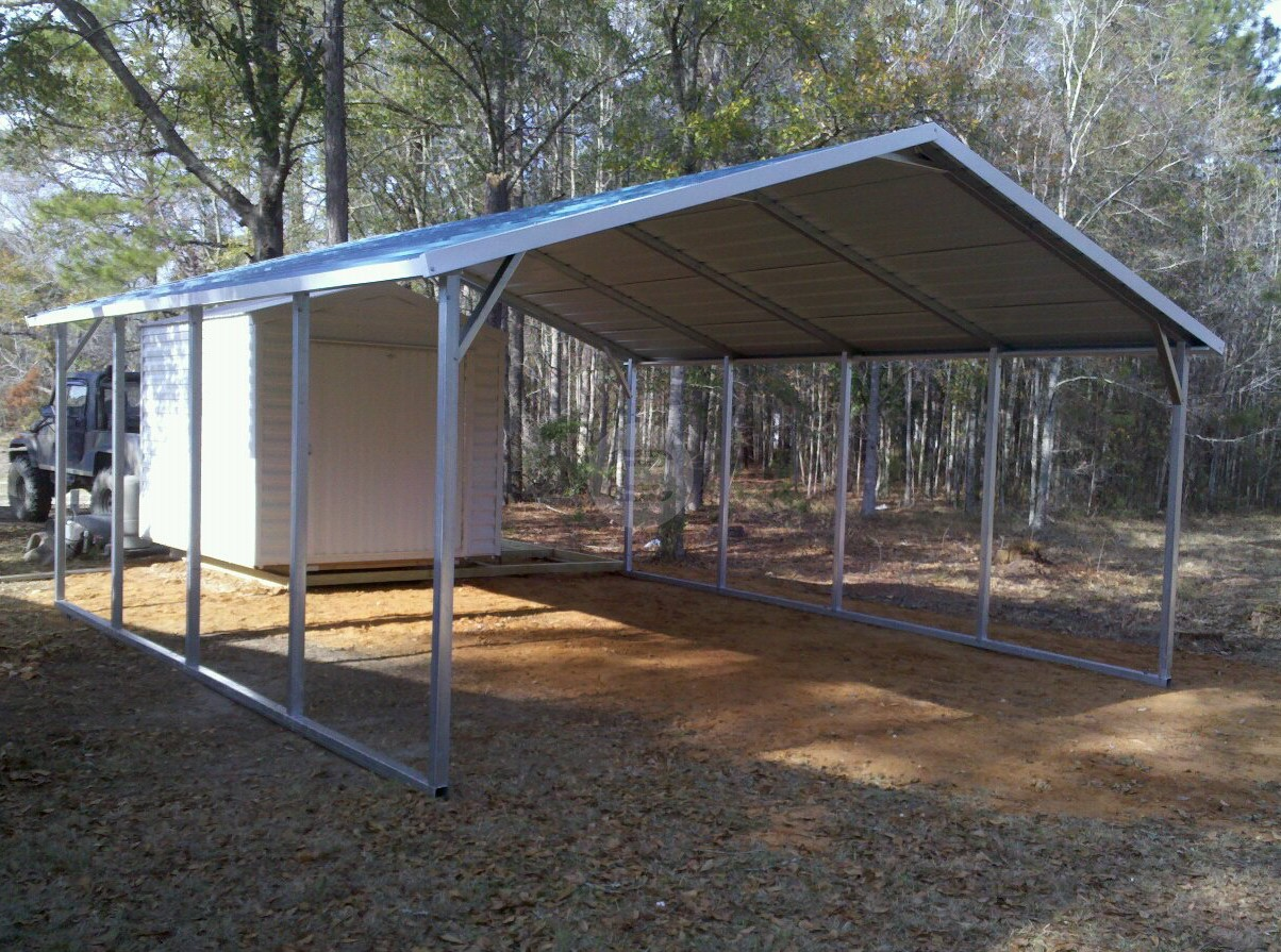 Steel Frame Carport : Carport metal barn central