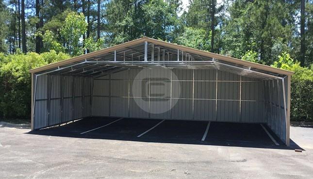 36x21x9 Vertical Roof Carport