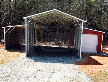 44x41x12 A-Frame Raised Center Barn